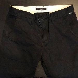 Men's black vans pants size 32